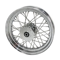Chrome 40 Spoke Front Wheel, 16 x 3.00