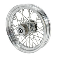 V-Twin Manufacturing Dual Flange Wheel Assembly, 19 x 2.5