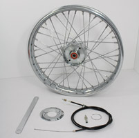 V-Twin Manufacturing 19″ x 1.85″ Mini Brake Wheel Assembly