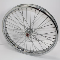 V-Twin Manufacturing Chopper-Style Spool Front Wheel, 21