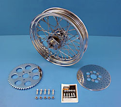 V-Twin Manufacturing Chrome Wheel and Brake Assembly