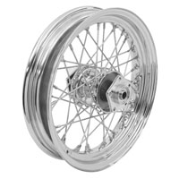 V-Twin Manufacturing Chrome 40 Spoke Front Wheel, 16 x 3.00