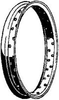 Early Steel Wheel Rim, Black 18