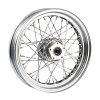 V-Twin Manufacturing Custom Twisted Spoke Front Wheel, 16 x 3.00