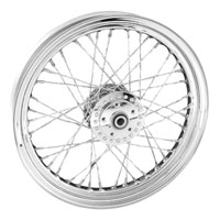 V-Twin Manufacturing Custom Twisted Spoke Front Wheel, 19 x 2.5