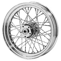 V-Twin Manufacturing Front Custom Twisted Spoke Front Wheel, 16 x 3