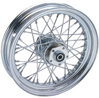 V-Twin Manufacturing Chrome 40 Spoke Rear Wheel, 16