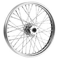 V-Twin Manufacturing Custom Twisted Spoke Front Wheel, 21 x 2.15