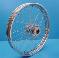 V-Twin Manufacturing Chrome Front Wheel, 21 x 2.15