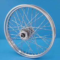 Custom Twisted Spoke Front Wheel, 21 x 2.15
