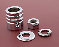 Colony Chrome Grooved Front Axle Spacer Kit