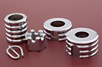Colony Chrome Grooved Rear Axle Spacer Kit