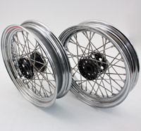 Servi Car Chrome and Black Rear Wheels, 16