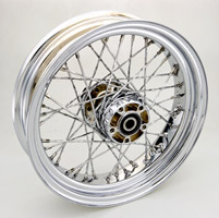 V-Twin Manufacturing Rear Wheel with Twirled Spokes, 16 x 4