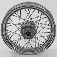 Chrome 40-Spoke Front Wheel, 16
