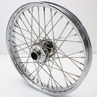 V-Twin Manufacturing Chrome 40-Spoke Front Wheel, 21