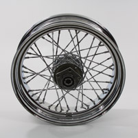 V-Twin Manufacturing Chrome Twisted Spoke Rear Wheel 16 x 4.00
