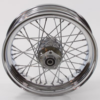 40-Spoke Complete Chrome Rear Wheel Assembly, 16