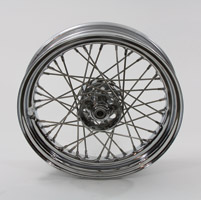V-Twin Manufacturing Replica 40 Spoke Star Hub Stainless Front/Rear Wheel, 16 x 3.00