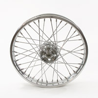 V-Twin Manufacturing Replica 40 Spoke Star Hub Chrome Front Wheel, 19 x 1.85