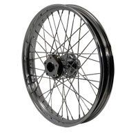 Chrome 40-Spoke Front Wheel, 21