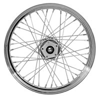 Chrome 40-Spoke Front Wheel, 19