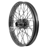 V-Twin Manufacturing Chrome Twisted Spoke Front Wheel 21 x 2.15
