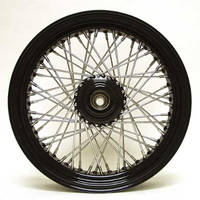 Ride Wright 60-Spoke Laced Black Wheel Assembly, 21 x 2.15