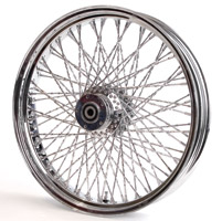 Paughco Chrome 80-Spoke Front Wheel Assembly, 21 x 3.25