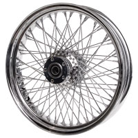 Paughco Chrome 80-Spoke Front Wheel, 21″ x 3.5″