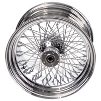 Paughco Chrome 80-Spoke Wheel Assembly for Wide Tire Applications, 18 x 5.50