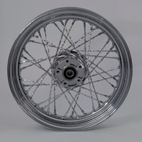 Chrome Twisted Spoke Front Wheel 16 x 3.00