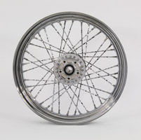 Chrome Twisted Spoke Front Wheel 19 x 2.50