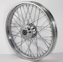 Front Wheel with Twirled Spokes, 21 x 2.15