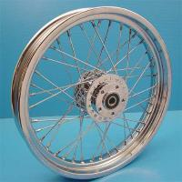Chrome Front Wheel with Stainless Spokes, 19 x 2.50