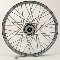 V-Twin Manufacturing Chrome 40-Spoke Front Wheel, 16