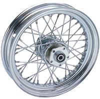 V-Twin Manufacturing Chrome 40 Spoke Rear Wheel 16