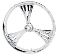 Arlen Ness Deep-cut Chrome Front Wheel for Dual Disc 21