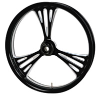 Arlen Ness Deep-cut Black Front Wheel 16