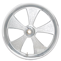 Arlen Ness Chrome Engraved Front Wheel 21