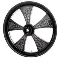 Arlen Ness Black Engraved Front Wheel 21