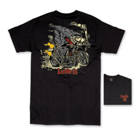 Lucky-13 Men's Fink Reaper Black T-Shirt