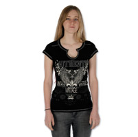 Liberty Wear Women's Authentic Vintage Black T-Shirt