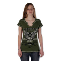 Liberty Wear Women's Authentic Vintage Olive T-Shirt