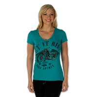 Liberty Wear Women's Let It Ride Jade Short-Sleeve Shirt