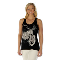 Liberty Wear Women's American Made Racerback Black Tank
