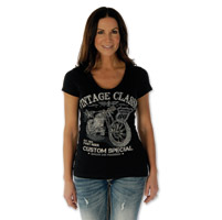 Liberty Wear Women's Vintage Classic Black T-Shirt