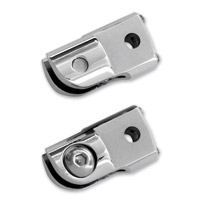 Accutronix Chrome Folding Footpeg Adapters
