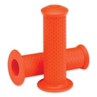Lowbrow Customs  7/8″Orange Fish Scale Grips