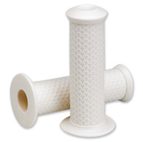 Lowbrow Customs  7/8″ White Fish Scale Grips
